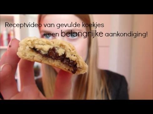 Momentopname gevulde koekjes